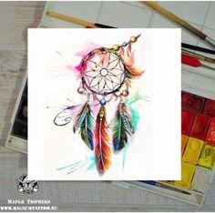 40 Trendy Ideas Tattoo Watercolor Pluma - Tattoos I like - Tattoo Designs For Women Dream Catcher Drawing, Dream Catcher Tattoo, Feather Tattoos, Body Art Tattoos, Sleeve Tattoos, Aquarell Tattoos, Colour Tattoo, Desenho Tattoo, Tattoo Designs For Women