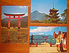postcards of Japan found at PolychromaStudios