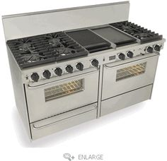 6 burner, gas with a grill & double oven, all my dreams have come true!