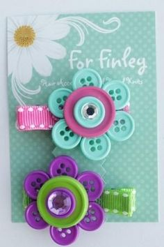 Button flower by aftr