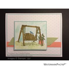 Porch Swing Retirement Card Using Stampin' Up! Retired Summer Afternoon Stamp Set/www.stampinwithlinda.com