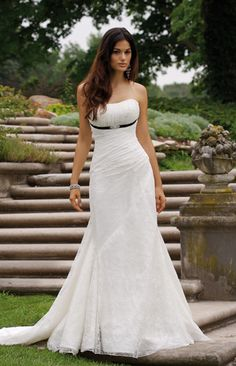 Simple elegant wedding dress - I think my boobs are too big but I love this!