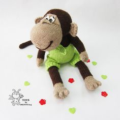 Naughty monkey-knitting pattern knitted round by simplytoys13