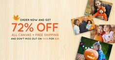 Put your #fall family photos on canvas: 72% off sitewide, plus free shipping! Better yet: 11x14 canvas prints are only $28 (great gift size!). #Sale ends 10/11, get started here: http://www.easycanvasprints.com/single-canvas?utm_source=facebook&utm_campaign=SOCRCANVAS11X14&pcode=4778676B315569516A5352766D6A616A71754F744D513D3D