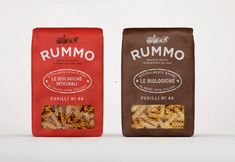 Rummo - Italian pasta packaging design creatd by Irving & co