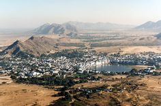 Pushkar - a small town in the district of Ajmer in Rajasthan, India. Pushkar is well known for the annual Camel Fair and is the largest fair of camel and trade in the World - India
