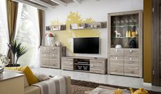Details about pirmont iii - oak entertainment sets furniture / living room wall unit Living Room Wall Units, Living Room Furniture, Living Room Decor, Ikea Tv Unit, Small Tv Cabinet, Modern Tv Wall Units, Modern Wall, Living Room Entertainment Center, Entertainment Stand
