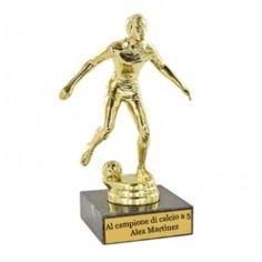 Statuetta calciatore personalizzabile con nome e dedica