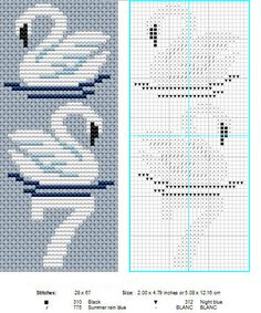 7 Swans A Swimming by ~NevaSirenda on deviantART 12 Days of Christmas cross stitch