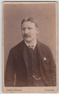 Carte De Visite Of A Gentleman By Chas F Wing Exeter Vintage Ephemera