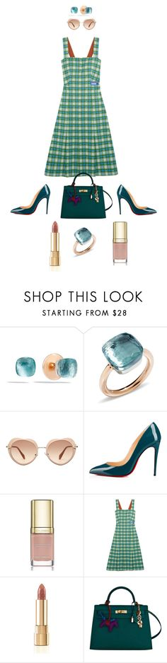 """Job Day 927"" by minigiulia ❤ liked on Polyvore featuring Pomellato, Miu Miu, Christian Louboutin, Dolce&Gabbana, Prada and Hermès"