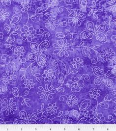 Keepsake Calico Fabric-Sundrenched Butterfly Flowers LavenderKeepsake Calico Fabric-Sundrenched Butterfly Flowers Lavender,