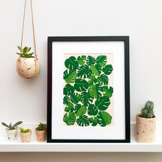 Our digital Cheese Plant print is based on original hand drawn illustrations, and printed on high quality archive paper.