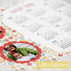 DIY Photo Calendar by @Kristy, Life-n-Reflection. LOVE it!