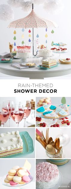 Baby showers and bridal showers are fun, but rain-shower-themed showers are the best! Throw one for your favorite bride-to-be or expectant parents this spring. Decorate the cake table by hanging tissue-paper pom poms for clouds and an umbrella with colorful strands of DIY raindrops. Serve a signature cocktail (virgin or not), raindrop cookies, a pretty cake and macaroons. Bonus points for touches of gold in the decorations … after all that's what's at the end of the rainbow. Celebrate with…