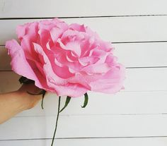 PINK 10 inches across GIGANT Paper Wedding Flower GIGANT