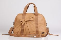 Beverly Bow Tie Carry-all Gym Bag in Caramel