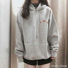 Korean fashion hoodie