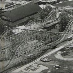 One of the oldest and largest  roller coasters at the time when DandiLion park existed