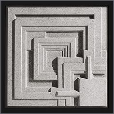 Frank Lloyd Wright Ennis House Cast Stone Wall Panel