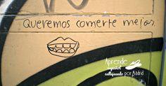 Aprende español callejeando por Madrid: Cómete el mundo.  #ELE #español #Spanish #gramática #pronombres personales #reflexivos