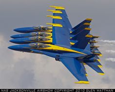 Perfection in Blue. United States Navy Blue Angels perform at Florida Airshow. These fighter pilots show what can be done with dedication, professionalism, excellence, and single minded determination.