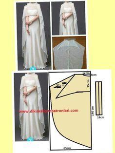 24 Ideas For Dress Pattern Wedding Evening Gowns Dress Sewing Patterns, Clothing Patterns, Capelet Pattern Sewing, Diy Clothing, Sewing Clothes, Fashion Sewing, Diy Fashion, Trendy Fashion, Winter Bridesmaids