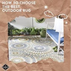 Don't make these outdoor rug mistakes. Our guide shows you how to choose an outdoor rug that looks good and lasts. Patio Rugs, Outdoor Rugs, Outdoor Privacy, Rug Cleaning, Gardening For Beginners, Container Gardening, Yard, Tips, Mistakes