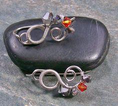 Swarovski Crystal Ear Pins (Molten Metal Mix)