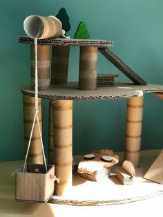 Best Indoor Garden Ideas for 2020 - Modern Cardboard Houses For Kids, Cardboard Box Crafts, Cardboard Toys, Cardboard Playhouse, Cardboard Furniture, Craft Activities, Toddler Activities, Diy For Kids, Crafts For Kids