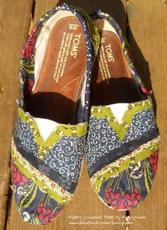 Custom Toms Shoes  Fabric covering to rejuvenate your by FancyToms, $40.00