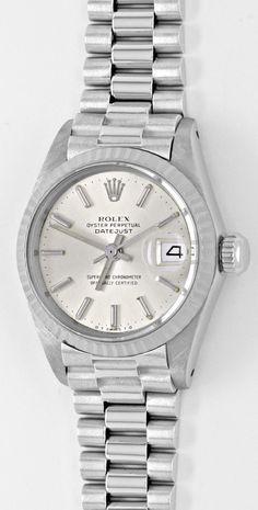 Foto 2, Rolex Datejust Damen-Armbanduhr Weissgold Geprüft Neuz., U1941