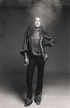Eclectic Vibes- Janis Joplin. Looking very Cool. Love this outfit.