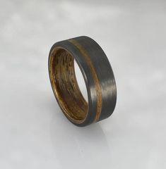 Carbon Fiber ring with Honduran Rosewood liner