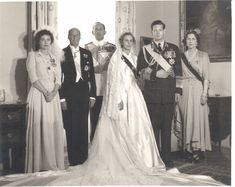 Wedding of King Michael and Queen Anne of Romania Michael I Of Romania, Romanian Royal Family, Peles Castle, Royal Weddings, Vintage Weddings, Bride Gowns, Kaiser, Queen Victoria, Here Comes The Bride