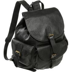 AmeriLeather Urban Buckle-Flap Backpack (Black) Amerileather. $56.99