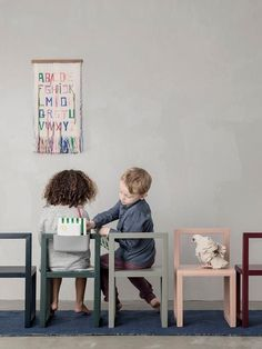 Scandinavian styled children's desk chair in soft muted colours designed by Ferm Living from their Little Architect's Series Playroom Table, Playroom Storage, Playroom Furniture, Retro Furniture, Cheap Furniture, Kids Furniture, Furniture Market, Furniture Movers, Furniture Design