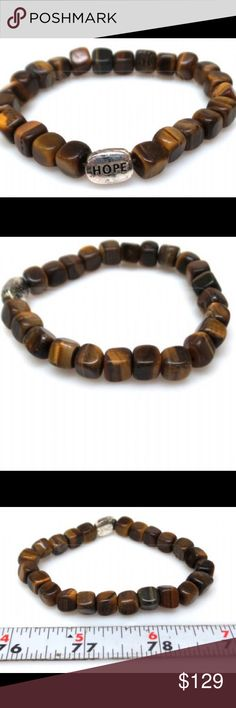 925 Sterling Silver Hope Tigers Eye Bracelet We buy 98% from small shop auctions all over the USA which dictates our prices. Our Treasures are: >Rare and can not be replaced; >Pre-owned/Used; >Have a Patina due to Age/Wear/Use; >(New unused Treasures are Noted); >Description= (See Pics (Zoom is Available)). We are not experts/Jewelers/Gemologists/Historians/Authenticators. Review pics for any/all defect or deficiency. Please review All Pics carefully and ask questions prior to purchase. All…