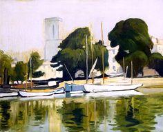 The Church and Harbor at La Rochelle, 1920   Albert Marquet