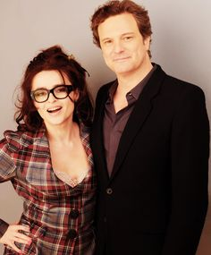 Helena Bonham Carter & Colin Firth. 2 of my favorite actors :)