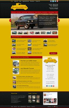 www.classiccarsofsc.com is an awesome website for classic car fanatics.  With over 15,000 hits a month this is one of the most popular automotive websites in the US.  For more #webdesigns visit us at www.customadesign.com