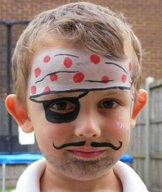 Child Face Painting Beautiful 30 Cool Face Painting Ideas for Kids Hative Pirate Face Paintings, Face Painting For Boys, Body Painting, Simple Face Painting, Princess Face Painting, Halloween Face Paint Designs, Face Painting Designs, The Face, Face And Body