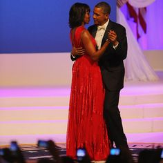 President Obama 2013 Inauguration -- Commander-in-Chief Ball: Michelle Obama wearing Jason Wu.
