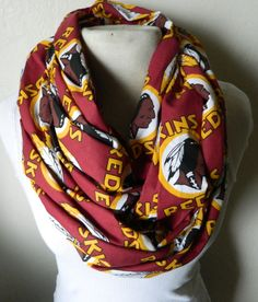 Sport the classic Washington Redskins logo on this infinity scarf. Redskins Gear, Redskins Baby, Redskins Football, Football Fever, Redskins Logo, Sports Teams, Burgundy And Gold, Washington Redskins, Style