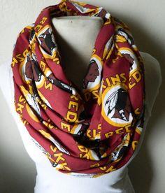Sport the classic Washington Redskins logo on this infinity scarf. Redskins Gear, Redskins Baby, Redskins Football, Football Fever, Redskins Logo, Sports Mom, Sports Teams, Burgundy And Gold, Washington Redskins