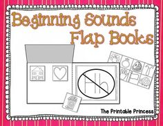 Beginning sound flap books. A fun, NEW way to teach beginning sounds. 26 books in all. Students will cut and sort pictures to identify the beginning sound and then glue it under the correct flap. Kindergarten Language Arts, Teaching Language Arts, Kindergarten Literacy, Abc Activities, Language Activities, Teaching Reading, Learning, Phonics Words, Apraxia