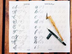 NEW Modern Spencerian Script Guide Hand Lettering and Hand Lettering Practice, Calligraphy Practice, Brush Pen Calligraphy, English Alphabet, 26 Letters, Script Lettering, Uppercase And Lowercase, Letter Size, Modern
