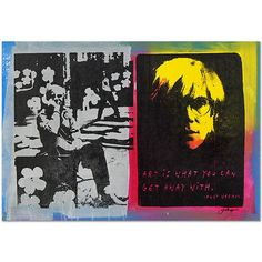 ANDY WARHOL original SILKSCREEN on CANVAS by GAIL RODGERS HAND SIGNED COA