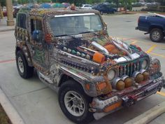 Jeep with stuff?.. Lots of stuff! Words fail me!