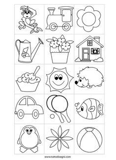 contrassegni-scuola-infanzia Drawing Lessons For Kids, Art Drawings For Kids, Easy Drawings, Art For Kids, Crafts For Kids, Colouring Pages, Coloring Pages For Kids, Coloring Books, Applique Patterns
